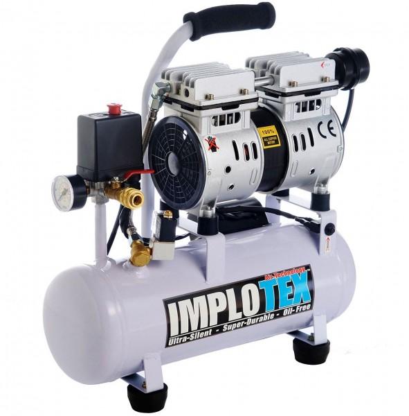 1-480-9 Flüsterkompressor Silent, 480 Watt, 48 DB, Maximaldruck 8 bar, Implotex Kompressor