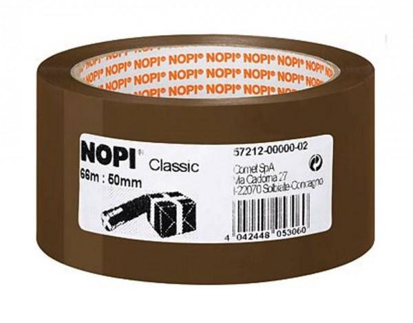 32734 Nopi Packband Klebeband, Breite 50 mm, Rolle mit 66 meter, braun