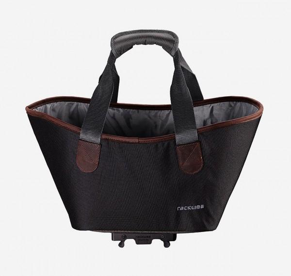 13420 Agnetha Fahrradtasche, Racktime, Snap-It, 34 × 25,5 × 37 cm, 15 Liter, carbon black
