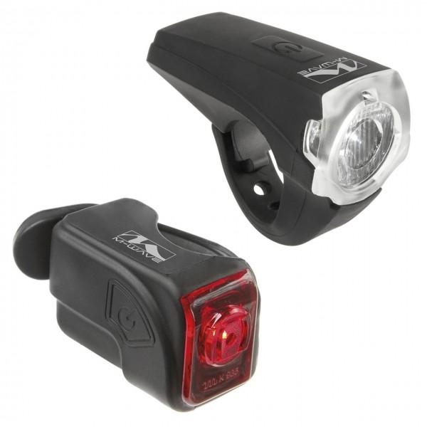 01433 Beleuchtungs-Set Cree, 25 Lux, USB, Lithium-Akku, wasserfest