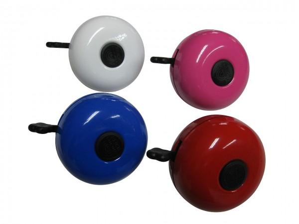 07428 Fahrrad-Glocke, Ding-Dong-Glocke, Ø 80 mm, farbig sortiert