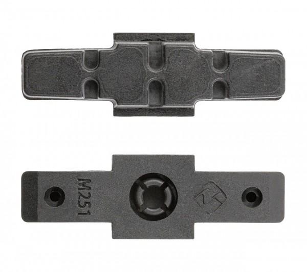 03414 Bremsbeläge für Magura-Hydraulic Felgenbremse, Lose im PE-Beutel, schwarz