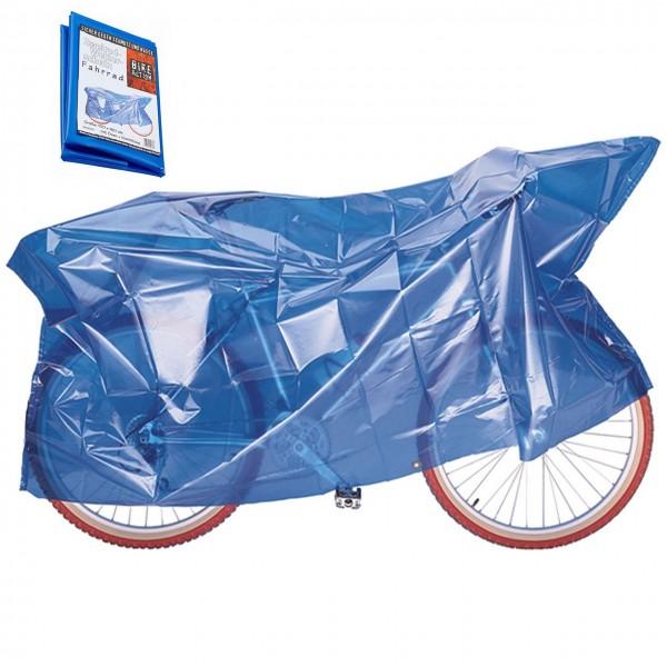 19507 Fahrrad-Faltgarage Zweirad Wetterschutz, mit Ösen & Gummizug, 100 x 240 cm, hell-blau