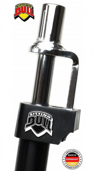 24775 gefederte Sattelstütze, Sitting Bull Fool Bull in schwarz, ohne Öldämpfer, Ø 27.2 mm