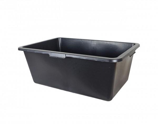 11527 Kunststoff-Wanne, Werkstatt-Wanne, 40 Liter, rechtwinkelig, Maße 72 x 40 x 22 cm, schwarz