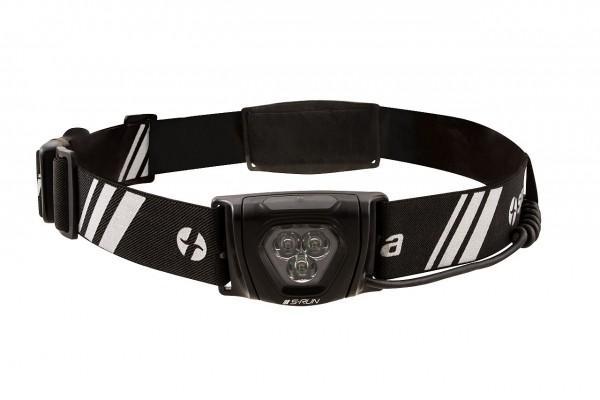 S-Run Laufgürtel (Hüftgurt) von Spanninga, Unisex, USB, 350 Lumen, weiße & rote Led`s, verstellbar,