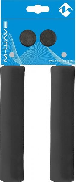 08111 SLR Griffe, paarweise, angenehme Haptik, atmungsaktiv, stoßabsorbierend, 30 g, 130 mm, schwarz