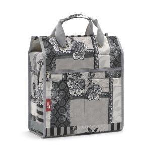 13440 Shopper-Einkaufstasche, Lilly, zum einhängen am HR-Träger, schwarz-grau gemustert