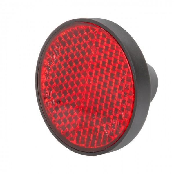 01525 Reflektor, rot, rund, Schutzblechmontage, mit Deutscher Prüfnummer