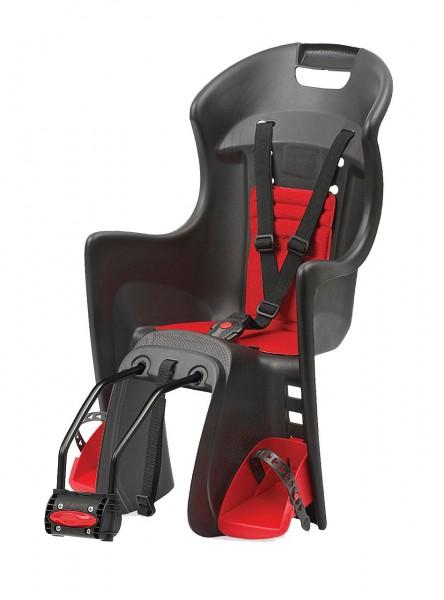 """Fahrrad-Kindersitz """"Boodie"""" von Polisport, Rahmenmontage, von 9-22 KG Körpergewicht, TÜV/GS, schwarz"""