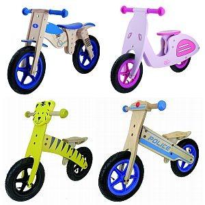 """Holz-Kinderlaufräder 12"""", Luftbereifung, Motorrad, Vespa, Tiger, Police ..."""