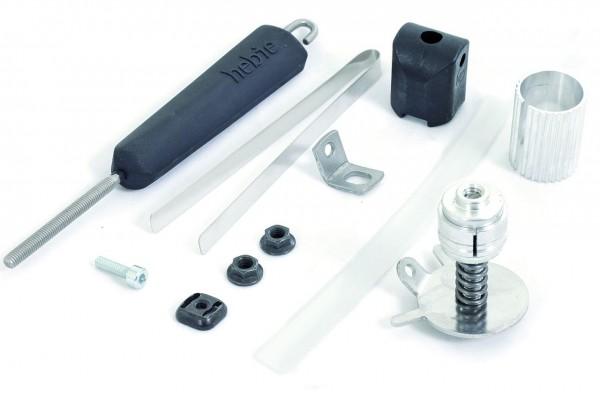 00118 Lenkungsdämpfer, Rahmen-Ø 28 - 62 mm, Federgabel, Elastomer, Hebie, 0696 Uni E