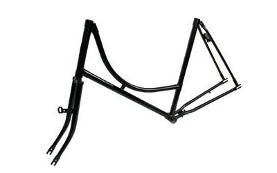 """95005 Holland Nostalgie-Rahmen, 28x1.1/2"""", Stahl, + VR-Gabel, schwarz-glänzend"""