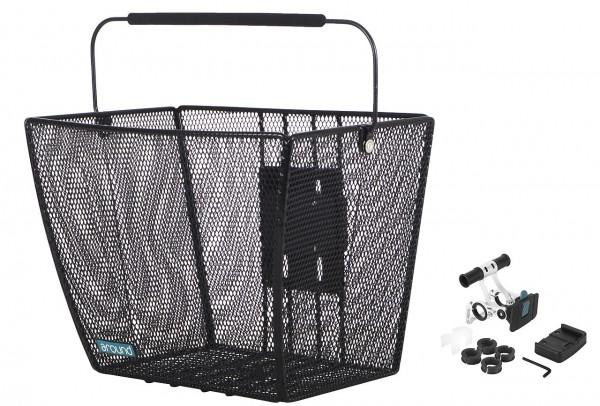 14104 hochwertiger VR-Korb, ACE VR Comfort, Abnehmbar, Inkl. Lenkerhalter, schwarz