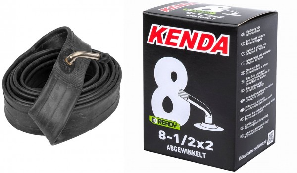 "511808 E-Roller Schlauch KENDA 8,5"" x 2.0"" Fahrradschlauch, Autoventil - 70° / 45° abgewinkelt"