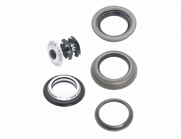 "22322 Steuersatz A-Head, 1.1/8"", Aluminium, Stahl, Semi-Integrated, 28.6-44.0-30.0 mm, silber"