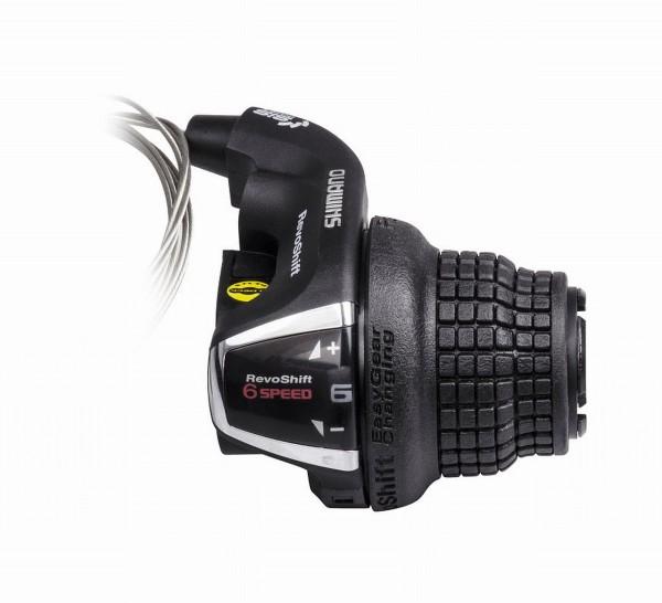 61142 Shimano Tourney Schalthebel (für 3x6-fach), SL-RS35, rechts - 6-fach, schwarz