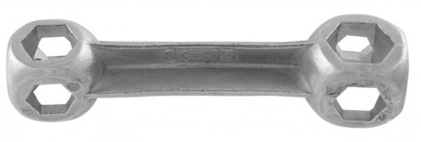 32234 Kopf-/ Zehnloch-Schlüssel, Schraubengröße 6 - 15 mm