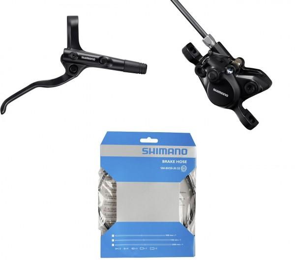 60200 Disc-Brake Set VR, Shimano MT 201, Hydraulisch, Bremshebel & Sattel, Hydr.-Leitung, schwarz