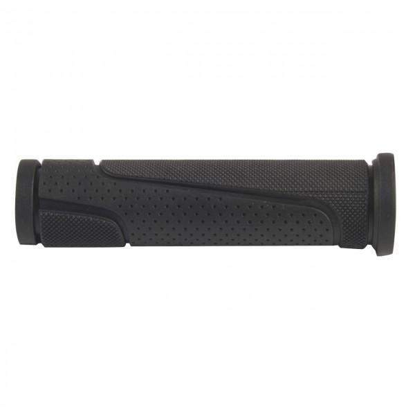 08142 Fahrradgriff (125 + 125 mm), Grip125, paarweise, schwarz
