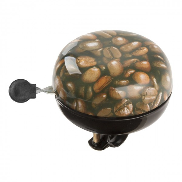 07443 Zweiklang Ding-Dong Glocke, Ø 80 mm, Motiv Kaffee (Kaffeebohne)