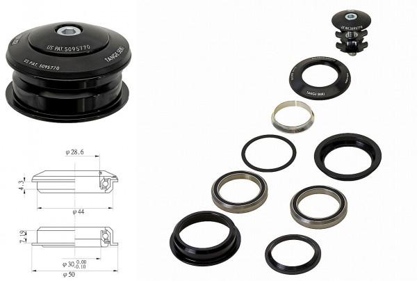 """22326 AHead Steuersatz, semi-integriert, TANGE, cartridge, 1.1/8"""", ALU, 28.6/ 44.0/ 30.0 mm, schwarz"""