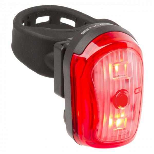 01454 Batterie-Rücklicht, 2 rote LEDs, variabel, STVZO, incl. Batterien, SUPERFLASH