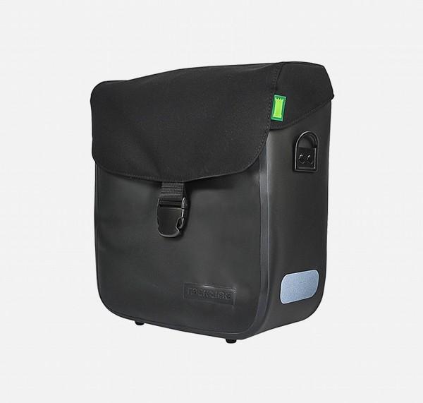 13618 Seitentasche Tommy, Deckeltasche, Wasserfest, 15 Liter, onyx-schwarz, ebike ready