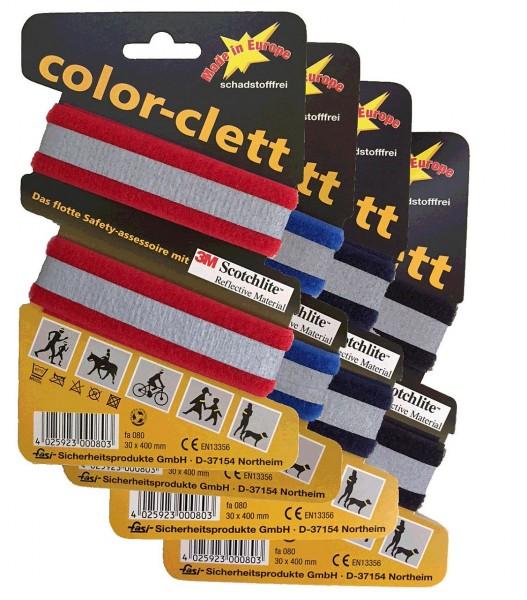 01708 Stretch-Reflexband, color clett, farbig sortiert, 3M Scotchlite Reflex-Material