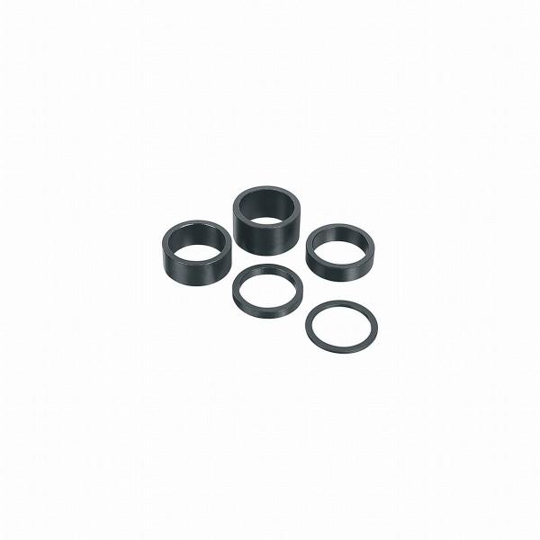 """16715 Spacer, Spacer-Set 1.1/8"""", Aluminium, 2-5-10-15 und 20 mm, schwarz"""