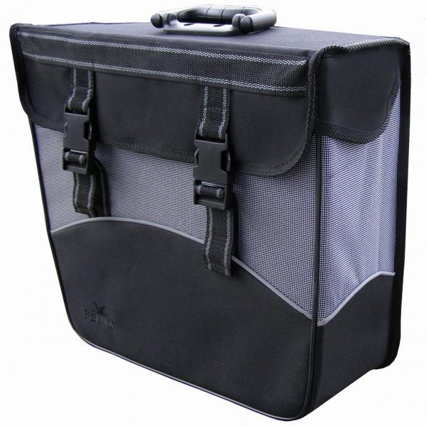 13587 HR-Seitenpacktasche, Rechts, 20 Liter, wasserdicht, schwarz-grau