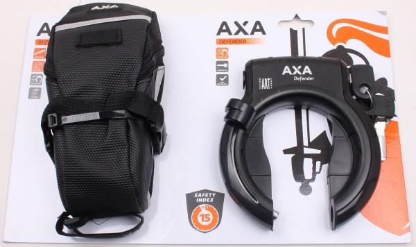25379 Aktions-Paket Axa Rahmenschloss Defender mit Axa Einsteck-Kette RLC 100