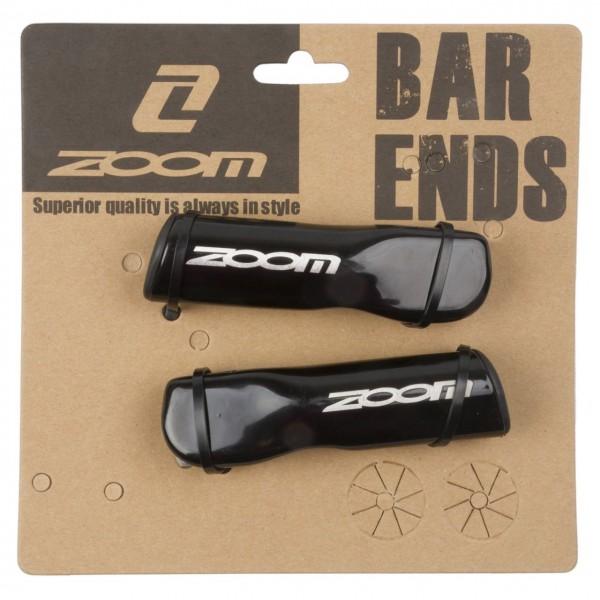 16314 Bar-Ends, ZOOM, ALU, Aussenklemmung Ø22.2 mm, 90 mm, schwarz