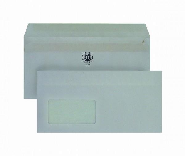 32712 Briefumschläge DIN lang (110 x 220 mm), mit Fenster, selbstklebend, weiß