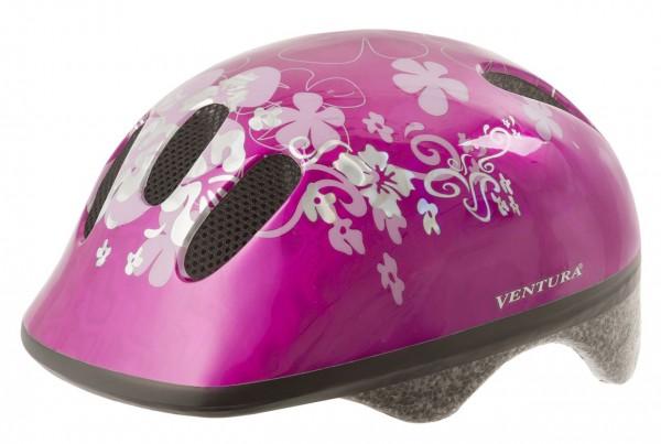 33812 Kinder- Fahrradhelm, S/M = 52-57 cm, Design Flower, pink