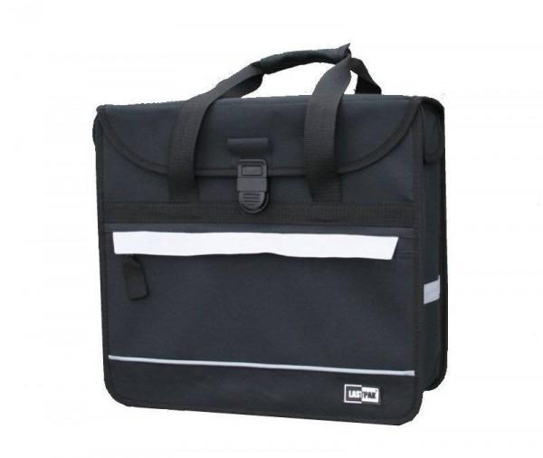 13223 Seitentasche, 17 Liter, Reflexstreifen, Tragegriffe, schwarz