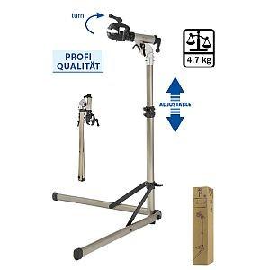 880065 Reparatur/ Klapp-Montage-Ständer, Aluminium, 360° drehbar, stabil und höhenverstellbar