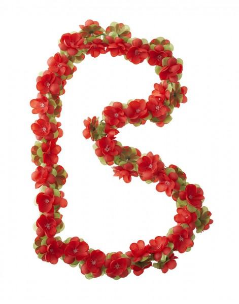 14154 Blumengirlande Flower Garland, 130 cm, rot