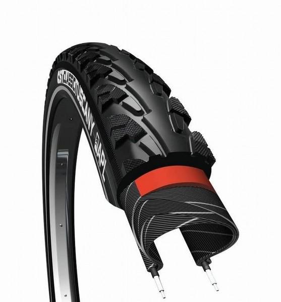 62263 Decke 40-622 ( 28 x 1.50 ) CST Tuscany, APL Pannenschutz, E-Bikes 25 km/h, schwarz, Reflex