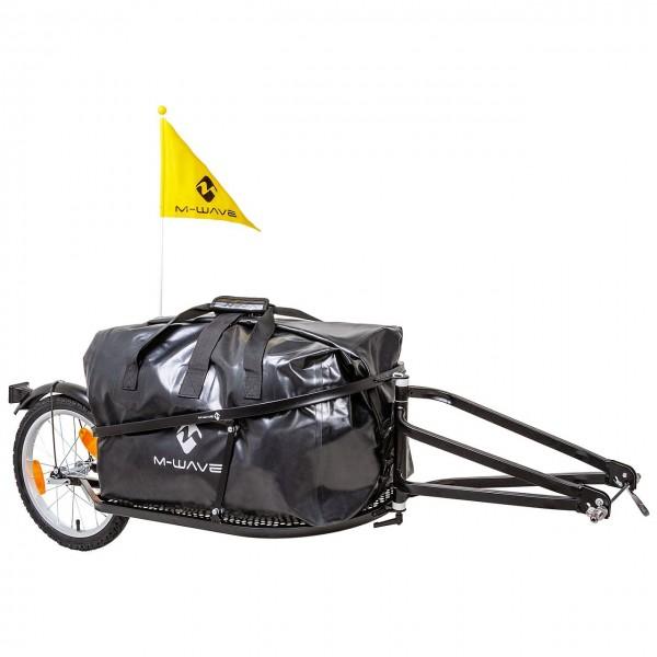"640081 Einspur-Gepäckanhänger Stalwart Single 40, Tasche abnehmbar, faltbar, 16"" Laufräder, schwarz"