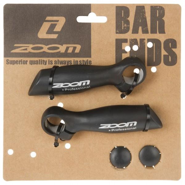 16318 Bar-Ends, ALU, Aussenklemmung Ø22.2 mm, einteilig, anatomisch, schwarz