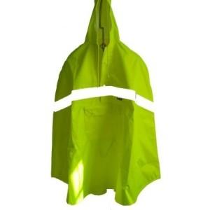 33211 Kinder Sicherheitsregenpelerine, mit Reflexstreifen, Neongelb