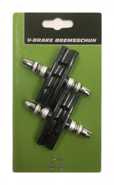 361701 Bremsschuh für V-Brake, Aluminium, 70 mm, 2 Paar auf Karte, Blisterverpackung