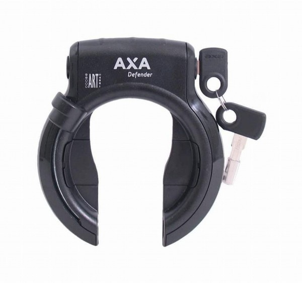 """55377 Rahmenschloss AXA Defender RL, Rahmenbefestigung, mit Plug-In, schwarz """"abziehbar Schlüssel"""""""