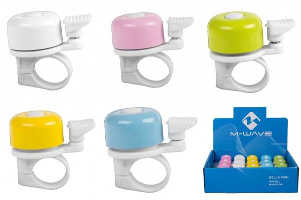 57308 Bella Mini-Glocke, Mini-Fahrradglocke, Pasteltöne, Stahl, Ø 35 mm, farbig sortiert