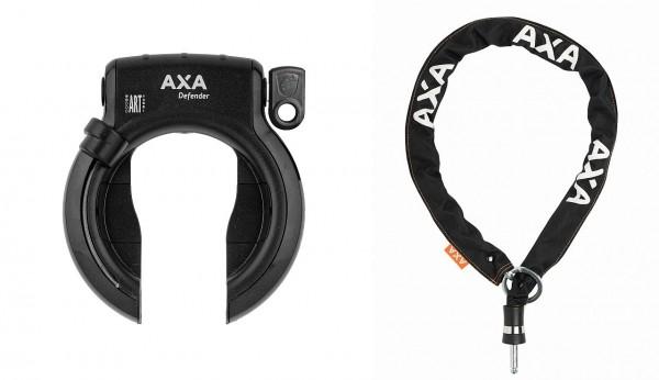 25377 Set Axa Rahmenschloss Defender mit Axa Einsteck-Kette RLC 100 Plus