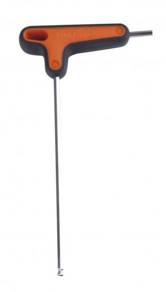 32163 T-Griff Inbusschlüssel, SuperB, langes Ende mit Kugelkopf, 4 mm
