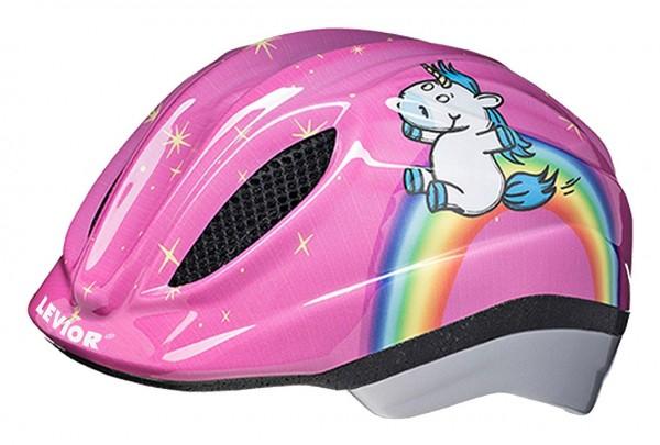 33911 Kinder Fahrradhelm Einhorn, Primo, Größe M (52-58 cm), Reflektor, Quicksafe, MaxShell, pink