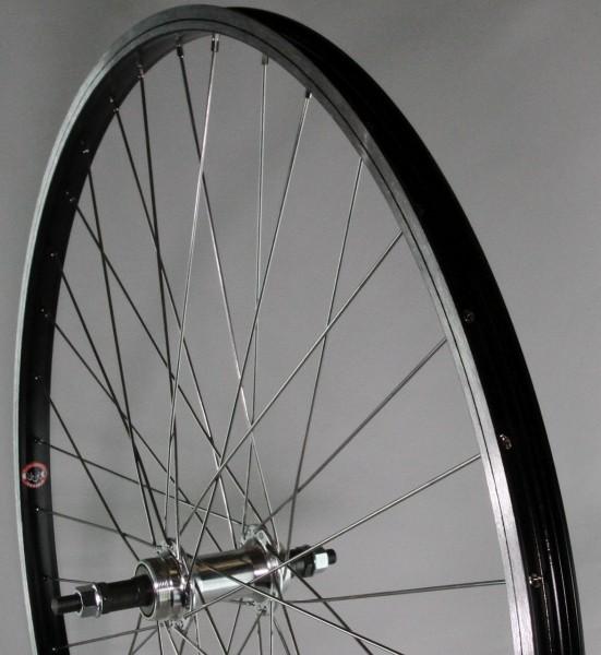 """15153 HR-Laufrad 28"""", Schraubkranz-Nabe, schwarze Aluminium Kasten, Nirospeichen"""