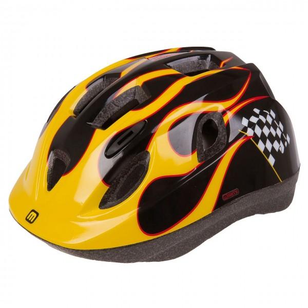 33821 Fahrradhelm Junior RACE, 48-54 cm, Größe XS, Kinder-/ Jugend-, In-Mould, Ringsystem, Reflex
